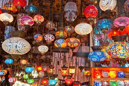 bazaar: Grand bazaar shops in Istanbul. Turkey.