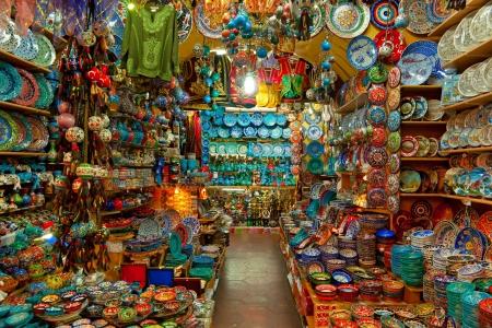 bazaar: Grand bazaar shops in Istanbul  Turkey