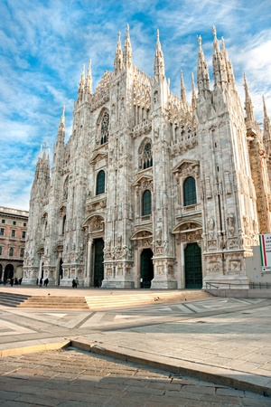 Vittorio Emanuele gallery and Duomo in Milan, Italy photo