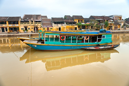 View on the old town of Hoi An, Vietnam.  photo