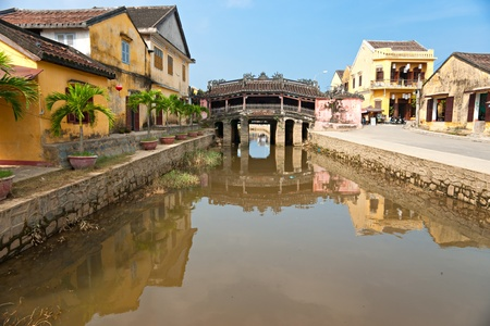 Japanese Bridge in Hoi An. Vietnam, Unesco World Heritage Site.  photo