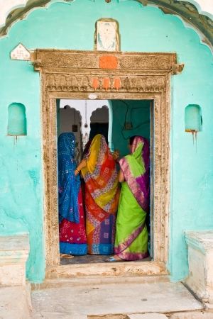 Three woman in Mandawa, rajasthan india.