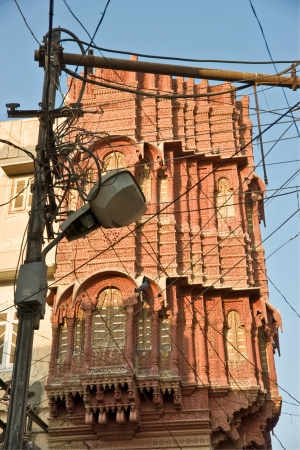 bikaner: Haveli and Street lamp, Bikaner, India