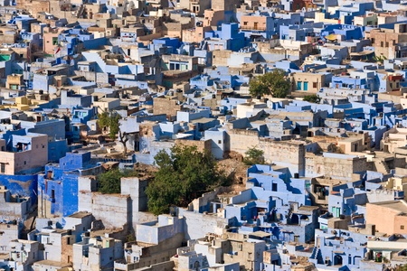 reincarnation: Jodhpur roof, The Blue City. Stock Photo