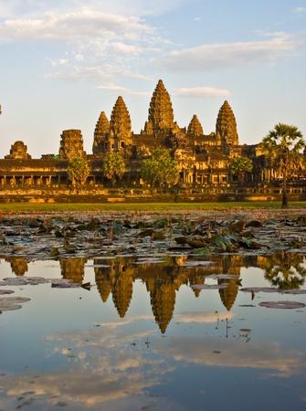 Angkor Wat at Sunset, Cambodia. Stock Photo - 8947308