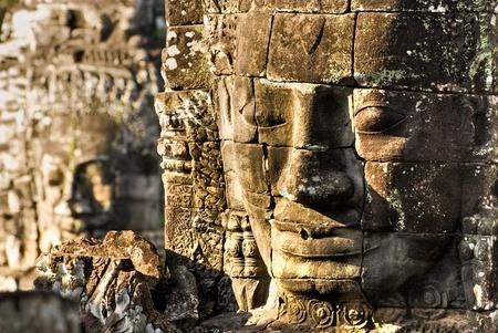 thom: Bayon Faces, Angkor Thom, Cambodia. Stock Photo