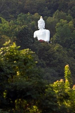 enlightment: Big Buddha Statue in the jungle, near Chiang Rai, North Thailand  Stock Photo