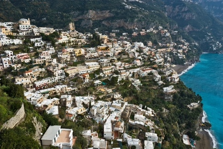 Panoramic view of Positano, naples, Italy. Stock Photo - 8950756