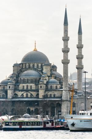 camii: The Yeni Cami  New Mosque , Eminonu, Istanbul, Turkey  Editorial