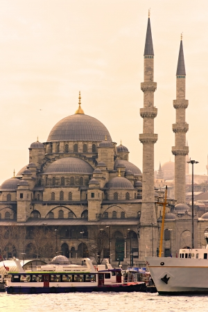 eminonu: The Yeni Cami  New Mosque , Eminonu, Istanbul, Turkey  Stock Photo