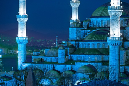 The Blue Mosque, (Sultanahmet Camii), Istanbul, Turkey. photo
