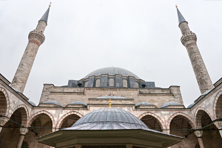 fatih: The beautiful decorated cupolas of the Fatih Mosque, Fatih district, Istanbul, Turkey.