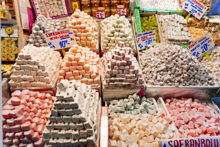 national fruit of china: Spice bazaar shops in Istanbul  Turkey