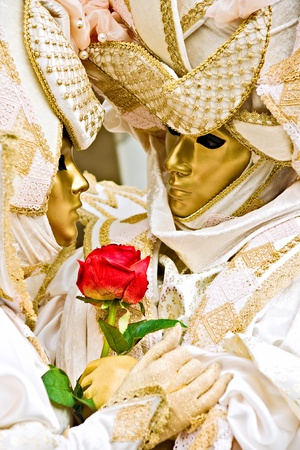Venice carnival mask, italy. photo