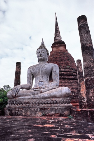 Buddha in the Historical park of Sukhothai, Thailand. Stock Photo - 8983855