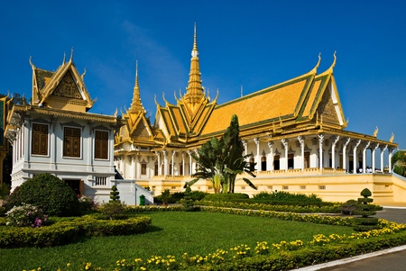 summer palace: Grand Palace, Pnom Penh, Cambodia. Stock Photo