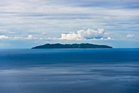capraia: Capraia isle, view from Marciana, Elba isle.
