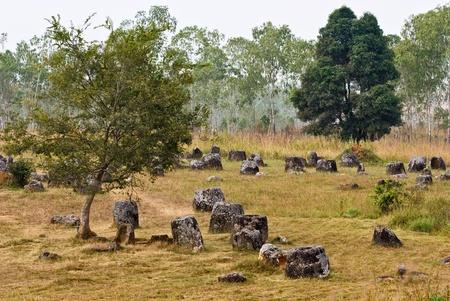 laos: Plain of Jars, Phonsavan, Laos. A Unesco World Heritage Site.