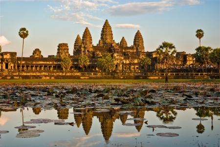 mekong: Angkor Wat Temple at sunset, Siem reap, Cambodia.