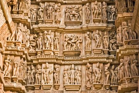 Detail of Vishnavath temple, Khajuraho, Madhya Pradesh, India. Stock Photo - 8985005