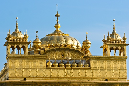 Details of Golden Temple in Amritsar, Punjab, India. photo