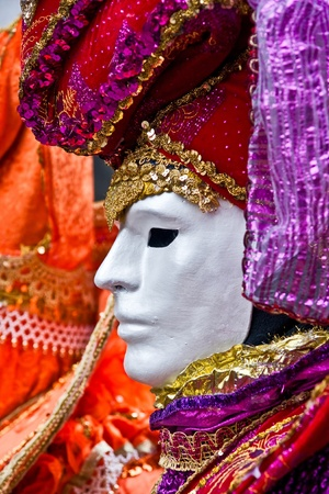 Colorful mask in Venice, Italy. photo