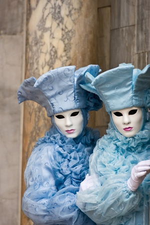 Two mask in Venice, Italy. photo