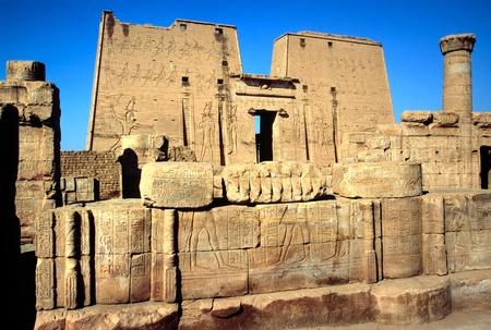 egyptian cobra: Il tempio di Horus, Edfu, Egitto.  Archivio Fotografico