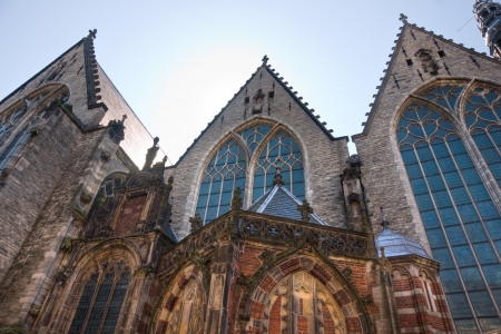 gabled house: Church in the Red Light district, Amsterdam  Holland