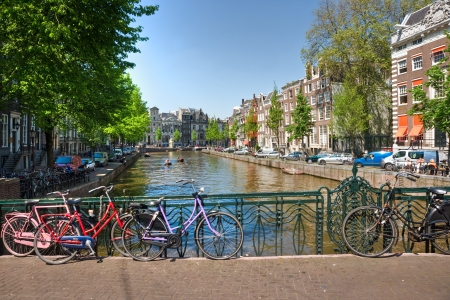 gabled house: Amsterdam, Canal and bike  Holland