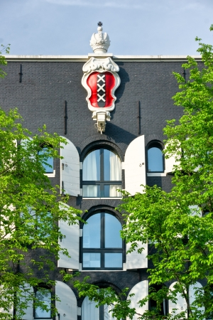 sightsee: Emblem of Amsterdam in a palace,  Holland