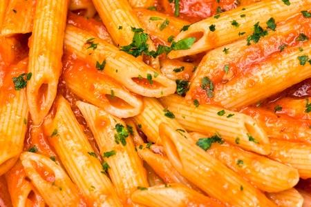 Italian Pasta. penne allarrabbiata.