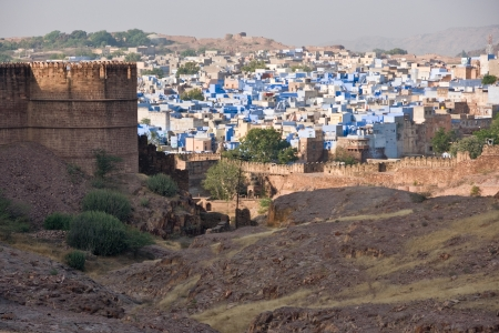 View of Jodhpur, the blue city  From the Mehrangarh fort