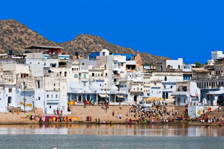 View of the City of Pushkar, Rajasthan, India