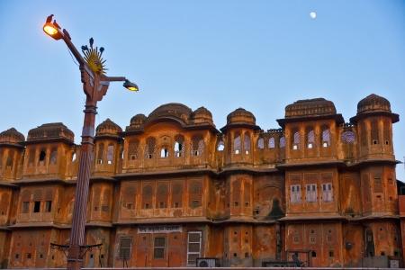 polygamy: Jaipur at evening,view from Hawa Mahal, Rajasthan, India