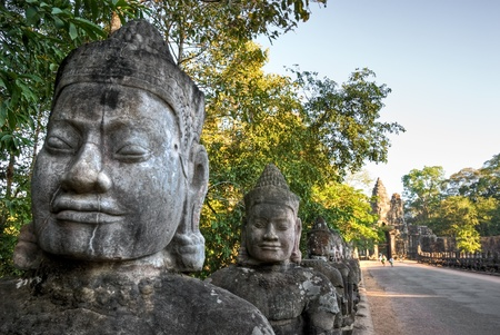 Main entrance of the old city of Angkor Thom, Siem Reap, Cambodia. Stock Photo - 9076309