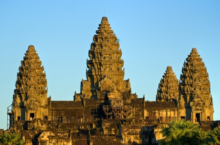 Angkor Wat Temple at sunset, Siem reap, Cambodia  photo