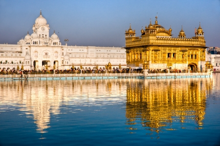 People at Golden Temple in Amritsar, Punjab, India  photo