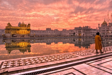 Sikh at  Golden Temple in Amritsar, Punjab, India. photo