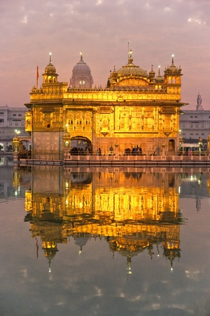 mahal:  Golden Temple in Amritsar, Punjab, India.
