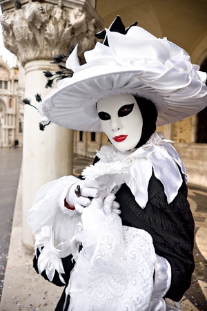 A mask in Venice, Italy. photo