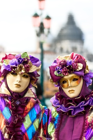 Two  masks in Venice, Italy. photo