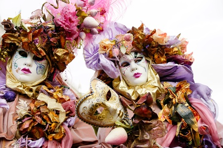 corazon: Two masks in Venice, Italy.