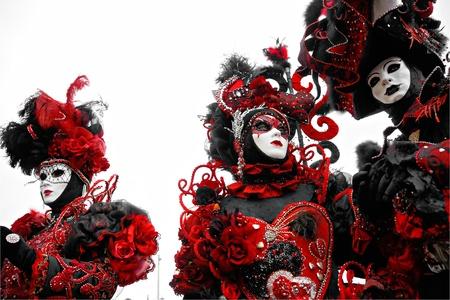 corazon: three masks in Venice, Italy.