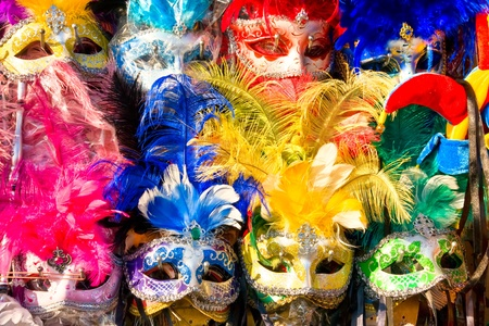 corazon: group of face mask in Venice, Italy.