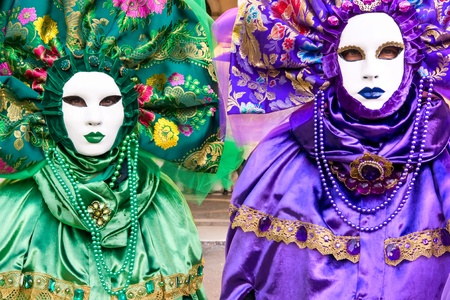 mardigras: Two leaf mask in Venice, Italy. Stock Photo