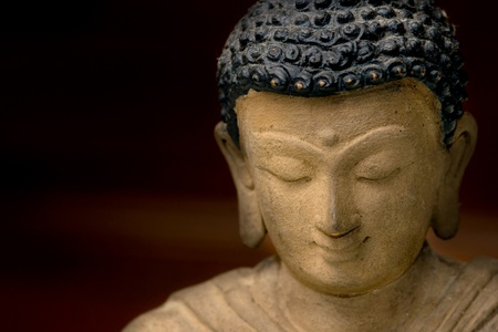 Close-up picture of a Buddha Face in Bronze, from Nepal. Stock Photo - 9075751