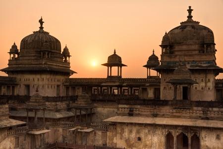 nandi: Palace in Orcha, Madhya Pradesh, India. Stock Photo