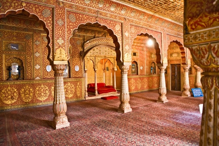 Maharajah room inside a old palace, India