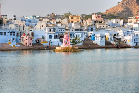 indian fair: View of the City of Pushkar, Rajasthan, India